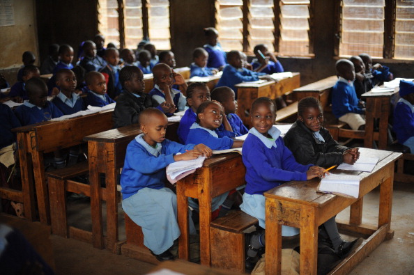 Pupils at the Olympic primary school in