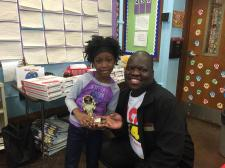 October 2014 Winner (WFUN) Janya Clark from Kennard School