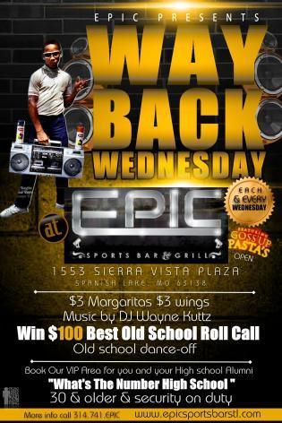 Epic Sports Bar Way Back Wednesday