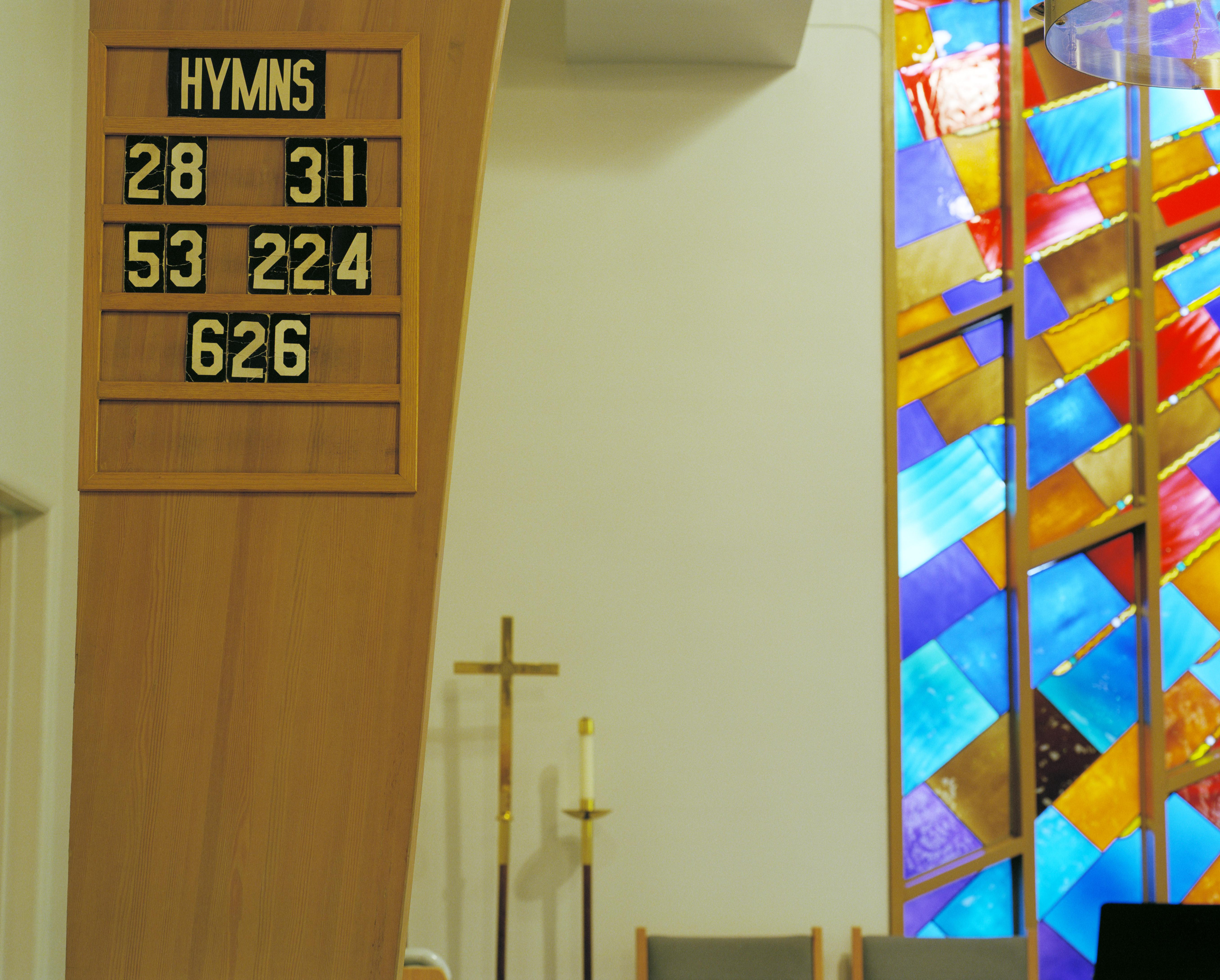 USA, Washington, Seattle, Peace Lutheran Church, interior
