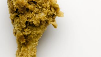 Fried chicken leg, close-up