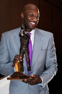Lamar Odom, a forward for the Los Angeles Lakers, received the Sixth Man Award on Tuesday, April 19