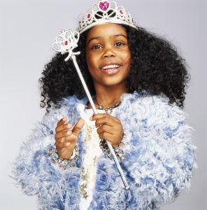 Girl (3-5) wearing fairy godmother costume