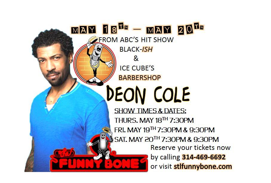 Deon Cole at The Funny Bone STL