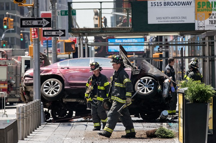 Car Crashes Into Pedestrians In Times Square
