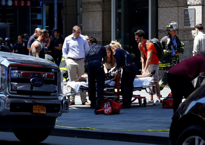 Vehicle plows into several pedestrians in Times Square of NY