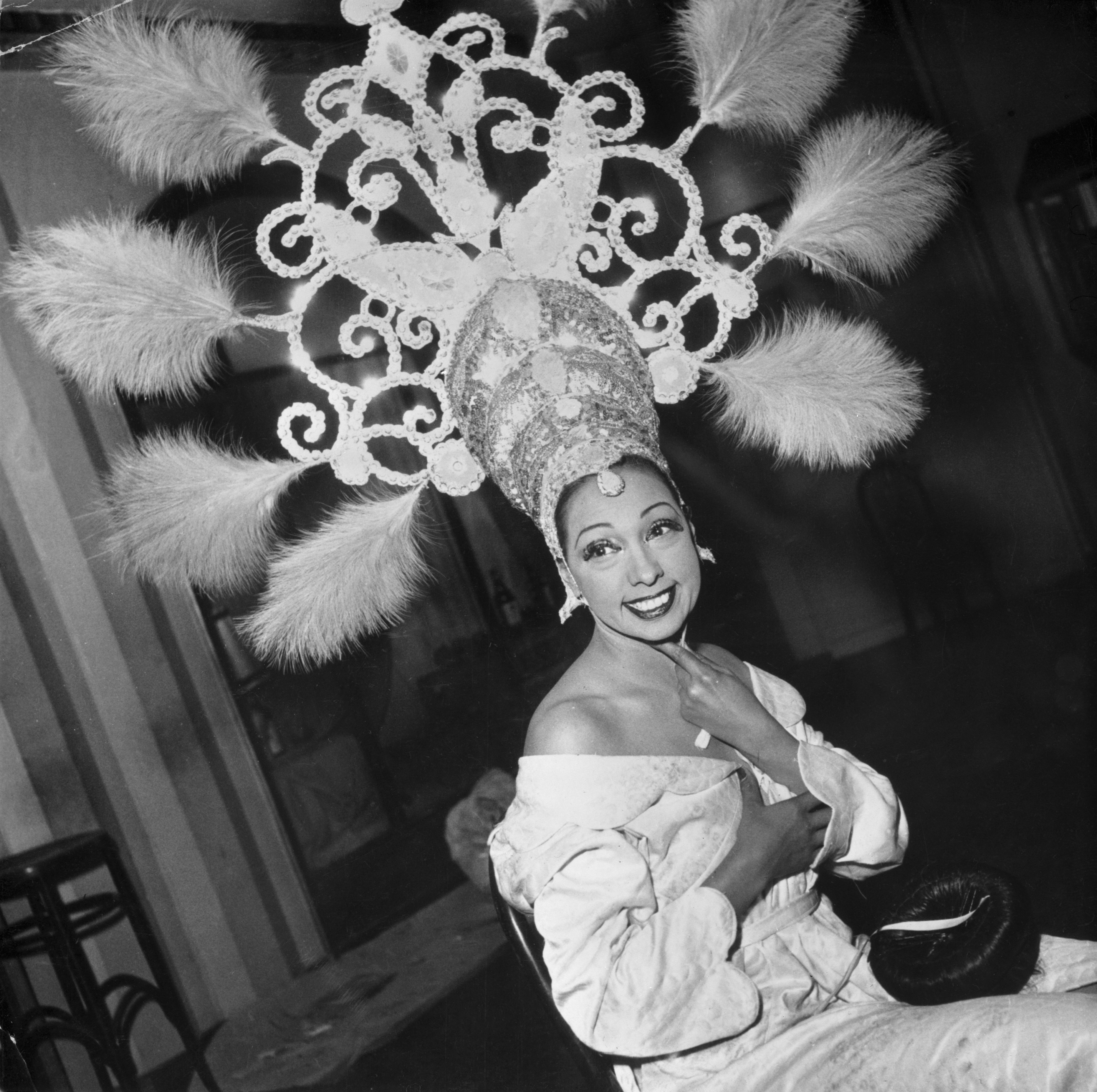 Josephine Baker Wearing Elaborate Headdress
