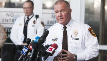 Apprehention of Suspect in Police Shooting Press Conference