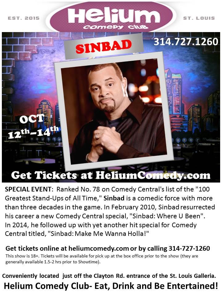 Sinbad at Helium Comedy Club STL