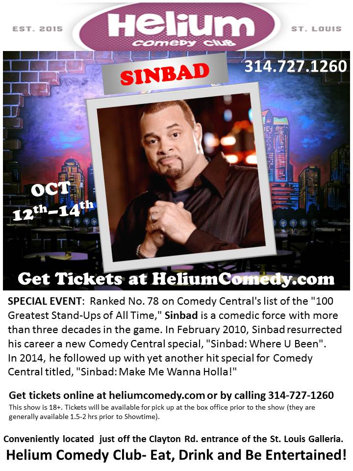 Sinbad at Helium Comedy Club STL
