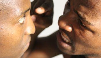 Close-Up Of Fighting Men