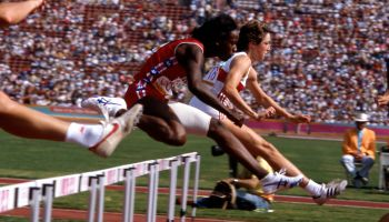 Jackie Joyner-Kersee At Women's Heptathlon Competition At The 1984 Summer Olympics