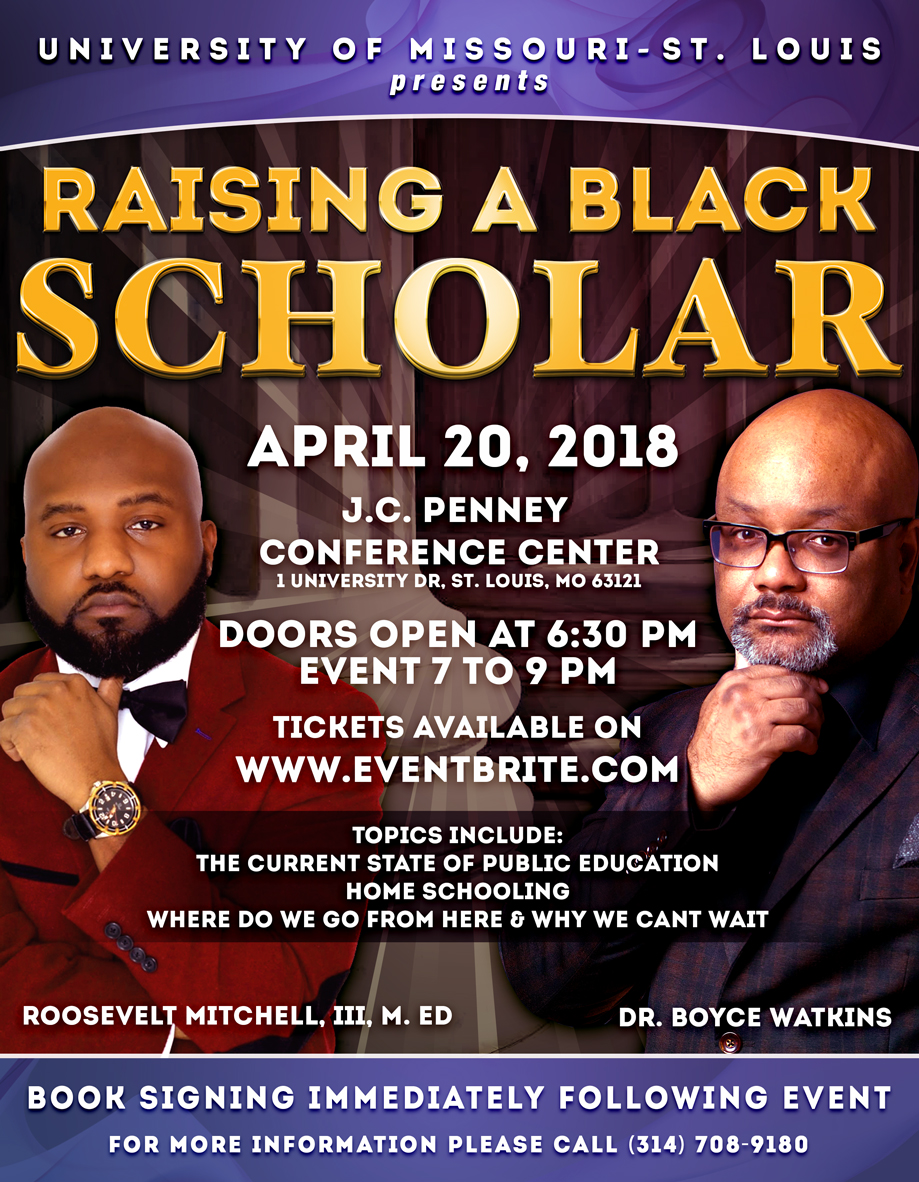 Raising A Black Scholar Event featuring Dr. Boyce Watkins