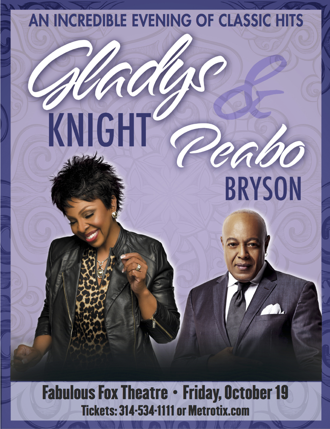 Gladys Knight and Peabo Bryson at the Fox