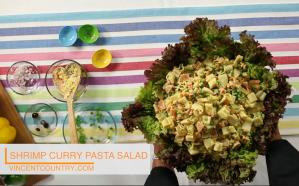 Shrimp Curry Pasta Salad