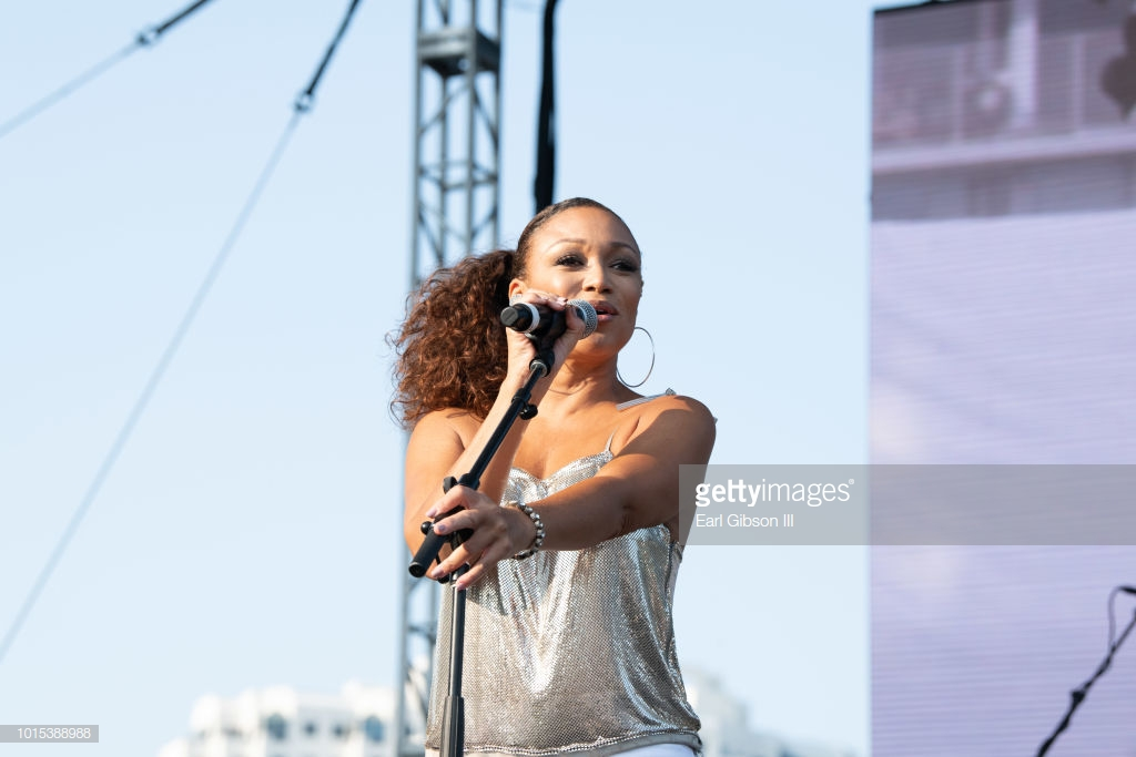 LONG BEACH, CA - AUGUST 11: Chante Moore performs at the 31st Annual Long Beach Jazz Festival at Rainbow Lagoon Park on August 11, 2018 in Long Beach, California. (Photo by Earl Gibson III/Getty Images)