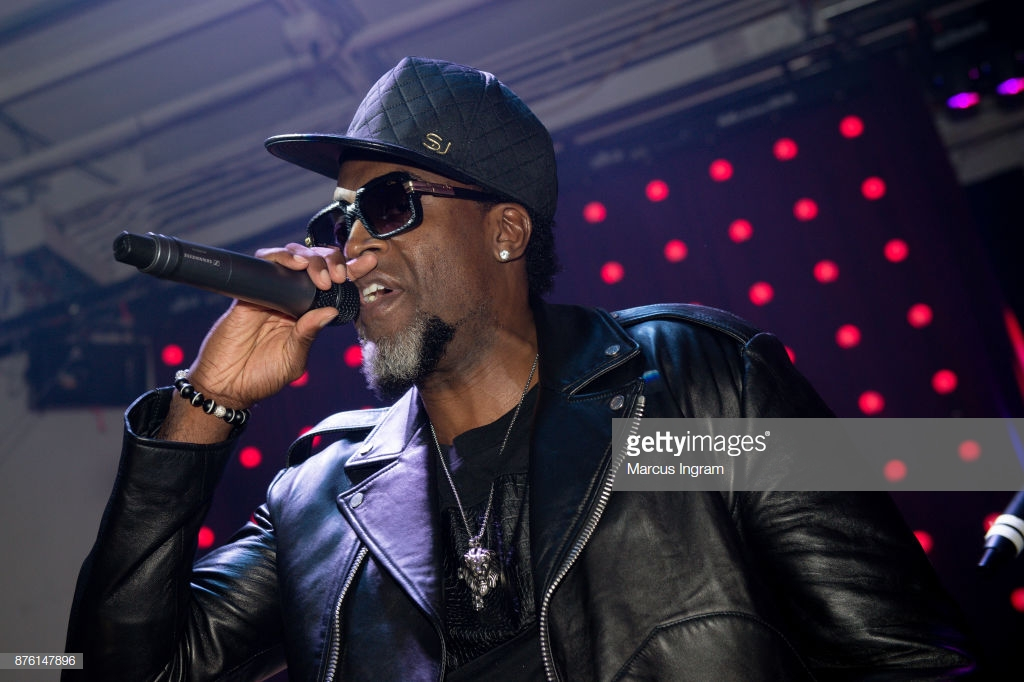 ATLANTA, GA - NOVEMBER 18: Singer Damion Hall performs onstage during the 50th birthday celebration for Ronnie DeVoe at Revel on November 18, 2017 in Atlanta, Georgia. (Photo by Marcus Ingram/WireImage)