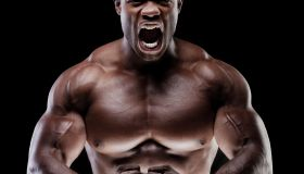Muscle Man yelling