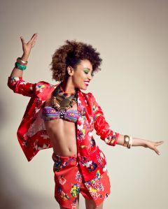 Happy Afro American Young Woman
