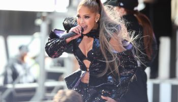 Jennifer Lopez performs on the Today Show