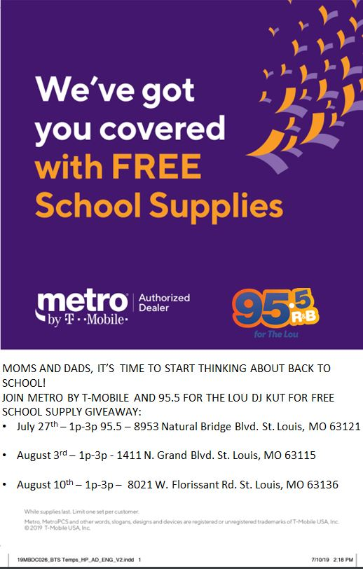 FREE SCHOOL SUPPLIES From Metro By T-Mobile! | 95 5 The Lou