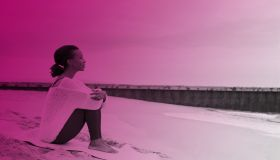 Black Woman On A Beach