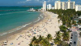 Puerto Rico, view of Isla Verde beach