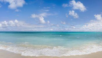 Panorama of a tropical beach