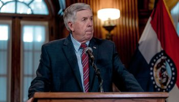 Missouri Gov. Mike Parson Holds Press Conference On Planned Parenthood License