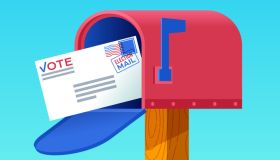 Mail-In Voting Mailbox Letter