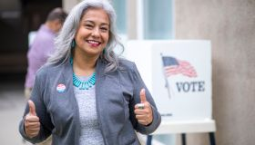 Senior Mexican Woman Voting
