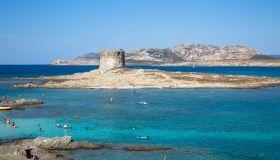 Europe. Italy. Sardinia. Stintino Bay. Torre della Pelosa